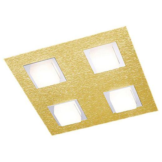 Grossmann LED Deckenleuchte »LED Deckenleuchte Basic in Messing-matt 4x 4,98W«, Deckenlampe, Deckenbeleuchtung, Deckenlicht