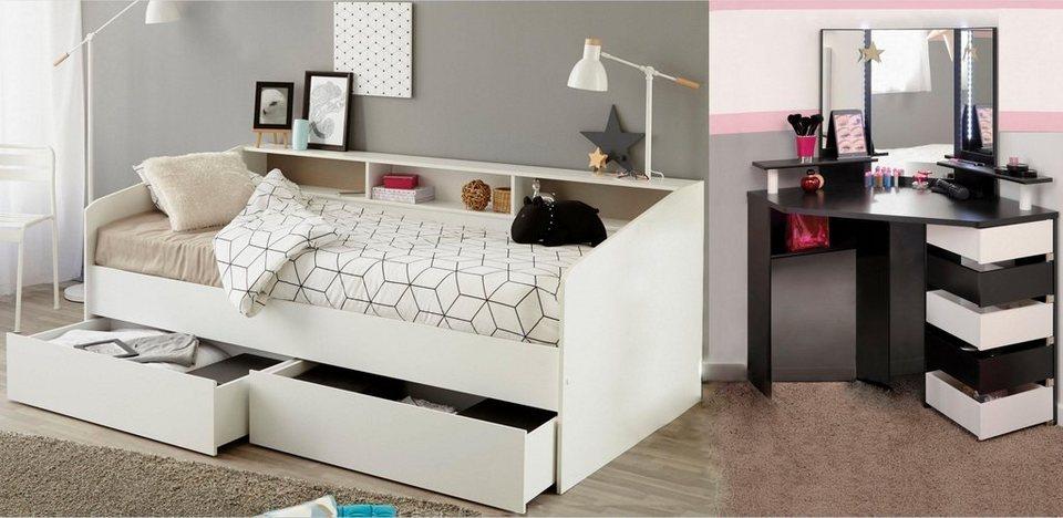 Parisot Jugendzimmer-Set »Sleep«, Stauraumbett und Schminktisch online  kaufen | OTTO