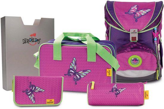 DerDieDas® Schulrucksack »ErgoFlex - Papillon« (Set)