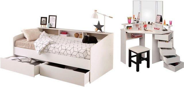 Komplettzimmer - Parisot Jugendzimmer Set »Sleep«, Stauraumbett, Schminktisch und Hocker  - Onlineshop OTTO