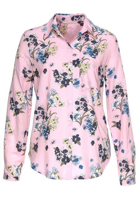 Clarina Druckbluse mit Allover-Blumen-Print | Bekleidung > Blusen > Druckblusen | Clarina