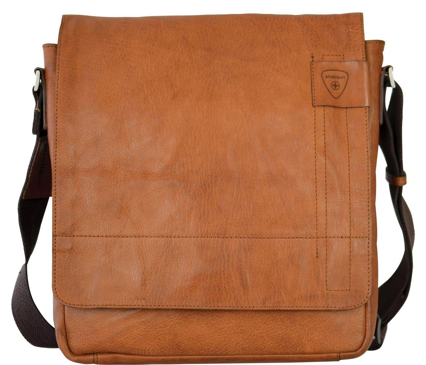 Strellson Messenger Bag »Upminster«, aus Leder mit verstellbarem Umhängeriemen | Taschen > Business Taschen | Braun | Leder | Strellson