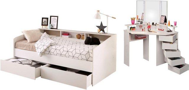 Komplettzimmer - Parisot Jugendzimmer Set »Sleep«, Stauraumbett und Schminktisch  - Onlineshop OTTO
