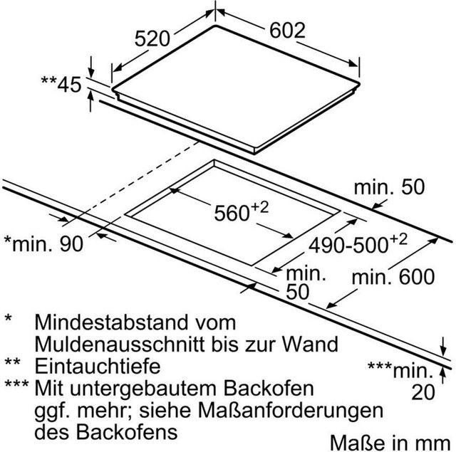 SIEMENS Elektro-Kochfeld von SCHOTT CERAN iQ300 ET675FNP1E