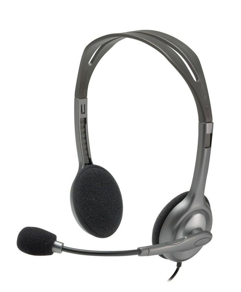 Logitech H110 Stereo Headset - EMEA »PC-Headset mit Kopfbügel«