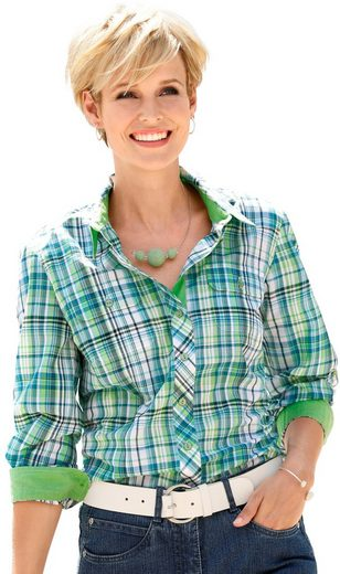Casual Looks Bluse im Karo-Dessin