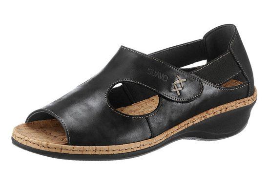 Suave Sandalette mit aufwändiger Handnaht