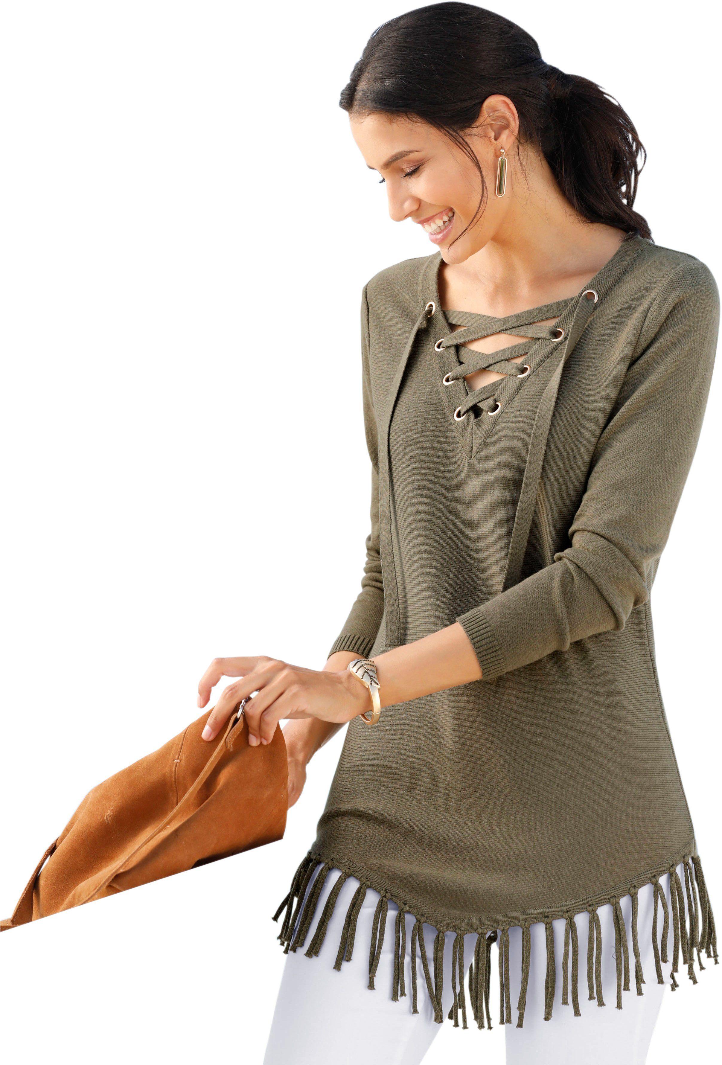 Classic Inspirationen Online Pullover Kaufen Mit Fransen Gestrickten MSzpUV