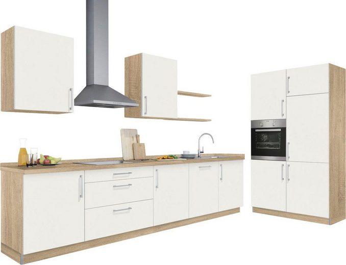 set one by Musterring Küchenzeile »Melle Basis«, ohne E-Geräte, Breite 330 cm, vormontiert