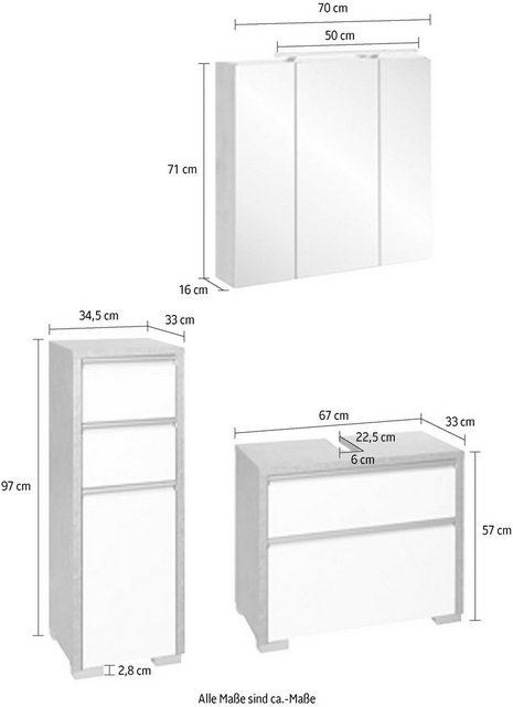 Badezimmer Sets - Schildmeyer Badmöbel Set »Bello«, (Set, 3 St)  - Onlineshop OTTO