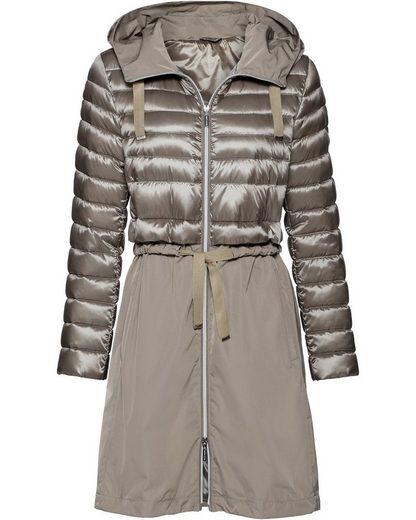 Brigitte von Schönfels Lange Jacke mit Leichtdaune