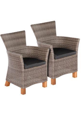MERXX Sodo kėdė »Toskana« Polyrattan/Akazie ...