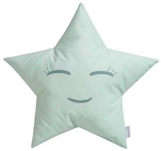 Lüttenhütt Dekokissen »Estrella«, in Wendeoptik mit süßem Gesicht