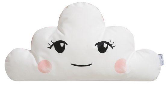 Dekokissen »Wolke«, Lüttenhütt, in Wendeoptik mit süßem Gesicht