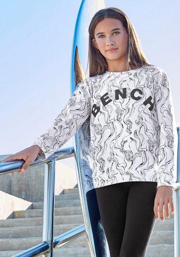 Bench. Sweatshirt in marmorierter Optik