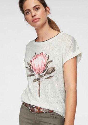 soyaconcept Kurzarmshirt »Panik31« mit Blumenmotiv vorne