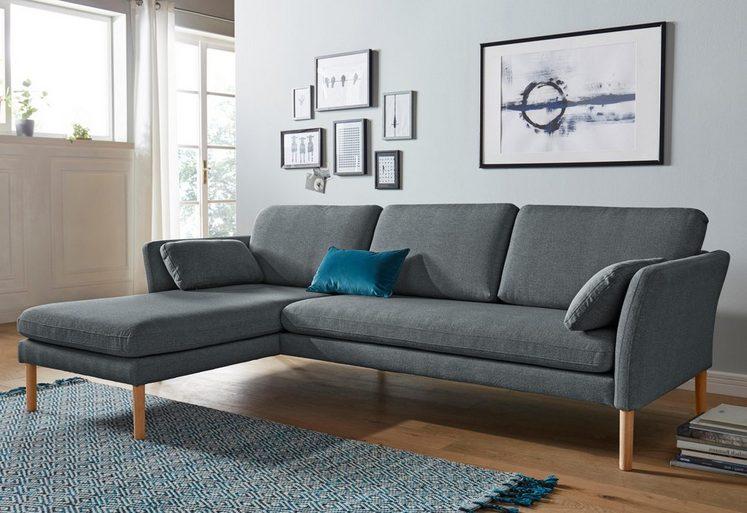 andas Ecksofa »Helsingborg«, mit Recamierenabschluss, im skandinavischem Design, in 2 Qualitäten