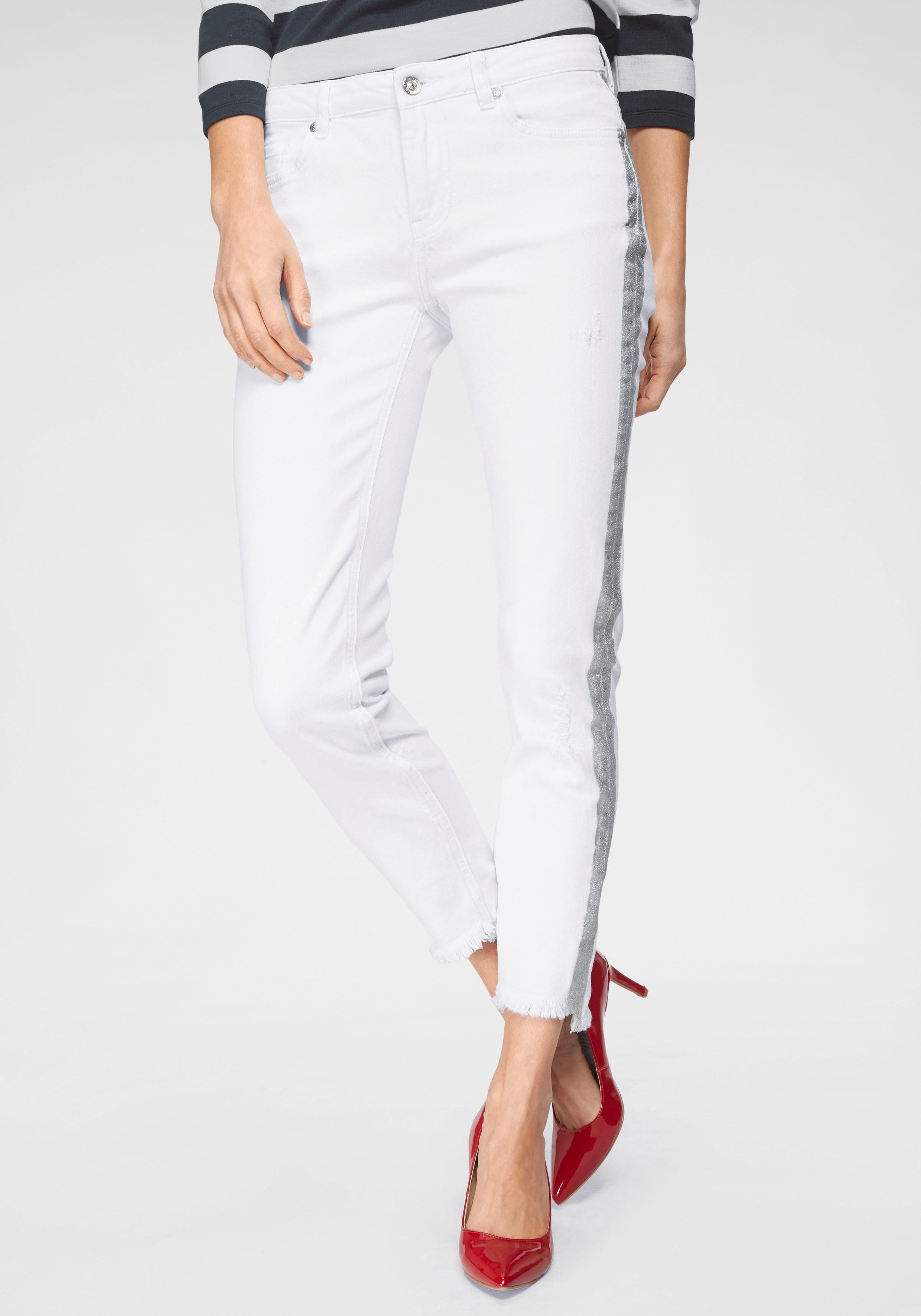 Monari 5-Pocket-Hose mit Glitzerstreifen an der Seite
