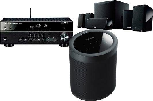 Yamaha YHT-4950 + MusicCast20 5.1 Heimkinosystem (200 W, Bluetooth, WLAN, 4K Upscaling, 3D-fähig)