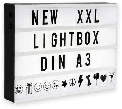 B.K.Licht LED Lichtbox, LED Lightbox XXL Lichtbox Leucht-Kasten Dekolicht LED-Schild Kino-Leuchte A3 SET