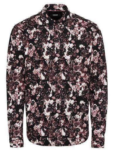 Solid Langarmhemd »Shirt - Juan Flower 3«