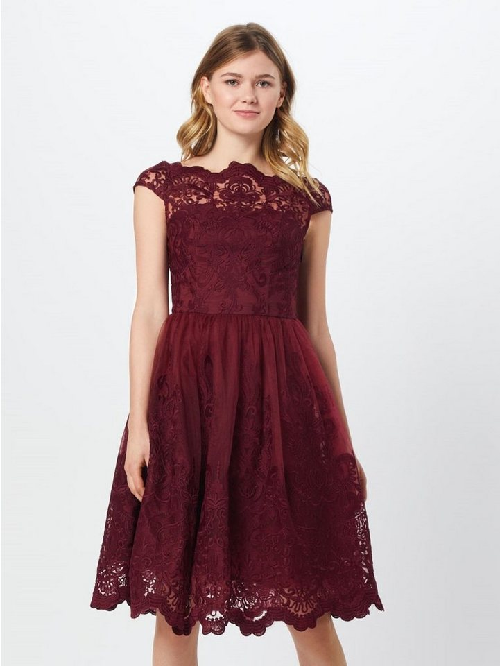 Damen Chi Chi London Abendkleid Jimima Dress Spitze rot | 05053190242250