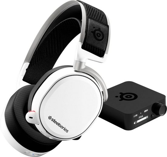 SteelSeries »Arctis Pro Wireless White« Gaming-Headset (Hi-Res, Noise-Cancelling)