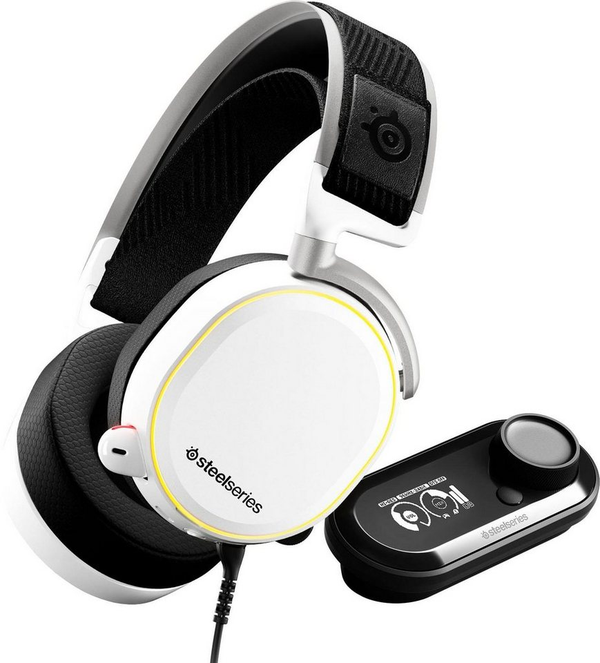 steelseries arctis pro gamedac white gaming headset. Black Bedroom Furniture Sets. Home Design Ideas
