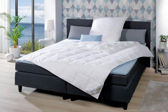 Daunenbettdecke, »Betten aus Deutschen Landen«, KBT Bettwaren, leicht, Füllung: 90% Daunen, 10% Federn, Bezug: 100% Baumwolle, (1-tlg)