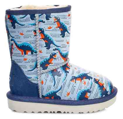 UGG »Classic Short II« Winterboots mit allover Dino Print