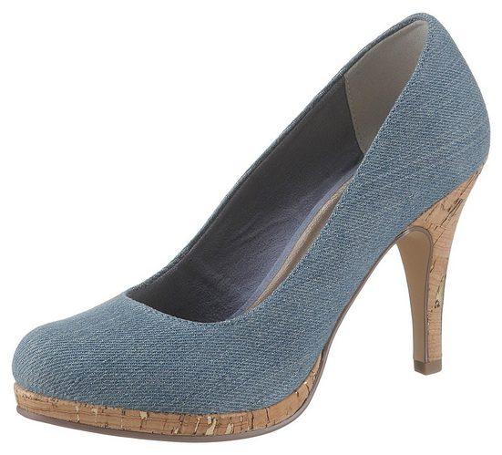 Tamaris High-Heel-Pumps in trendiger Jeans-Optik
