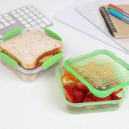sistema Aufbewahrungsbox »Lunchbox Stack 1.24l, transparent-grün«, Kunststoff (lebensmittelsicher)