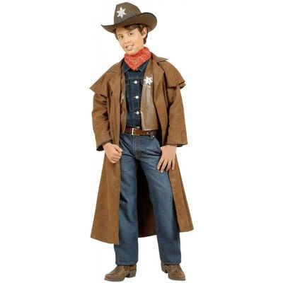 Schwarzer Cowboy Mantel XL 54 Revolverheld Sheriff Wilder Westen Cowboymantel