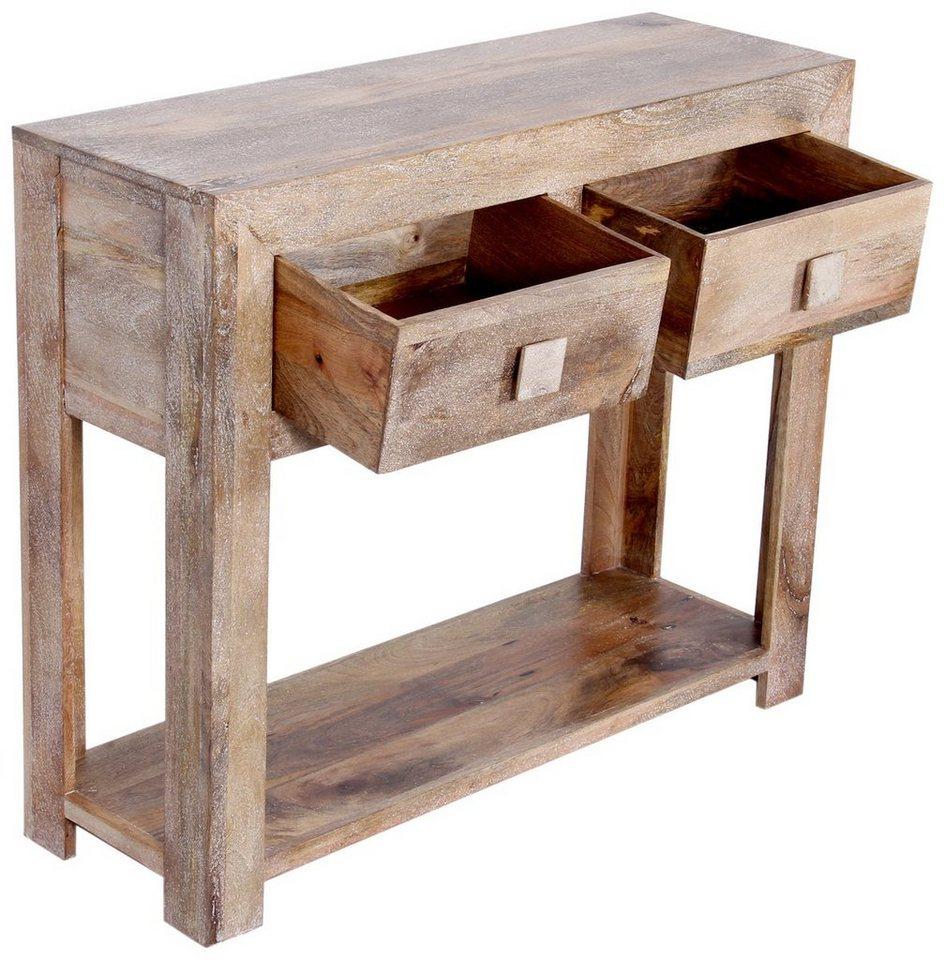 Kawola Konsolentisch Holz Mit Schubladen Tao Otto