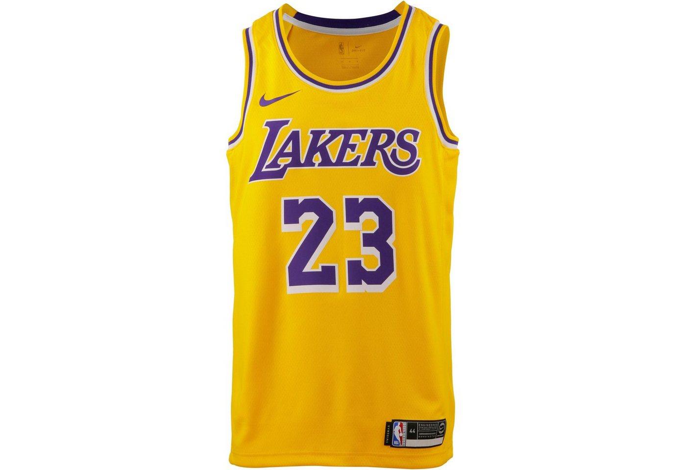 Nike Basketballtrikot »Lebron James Los Angeles Lakers« | Sportbekleidung > Trikots > Basketballtrikots | Gelb | Polyester | Nike