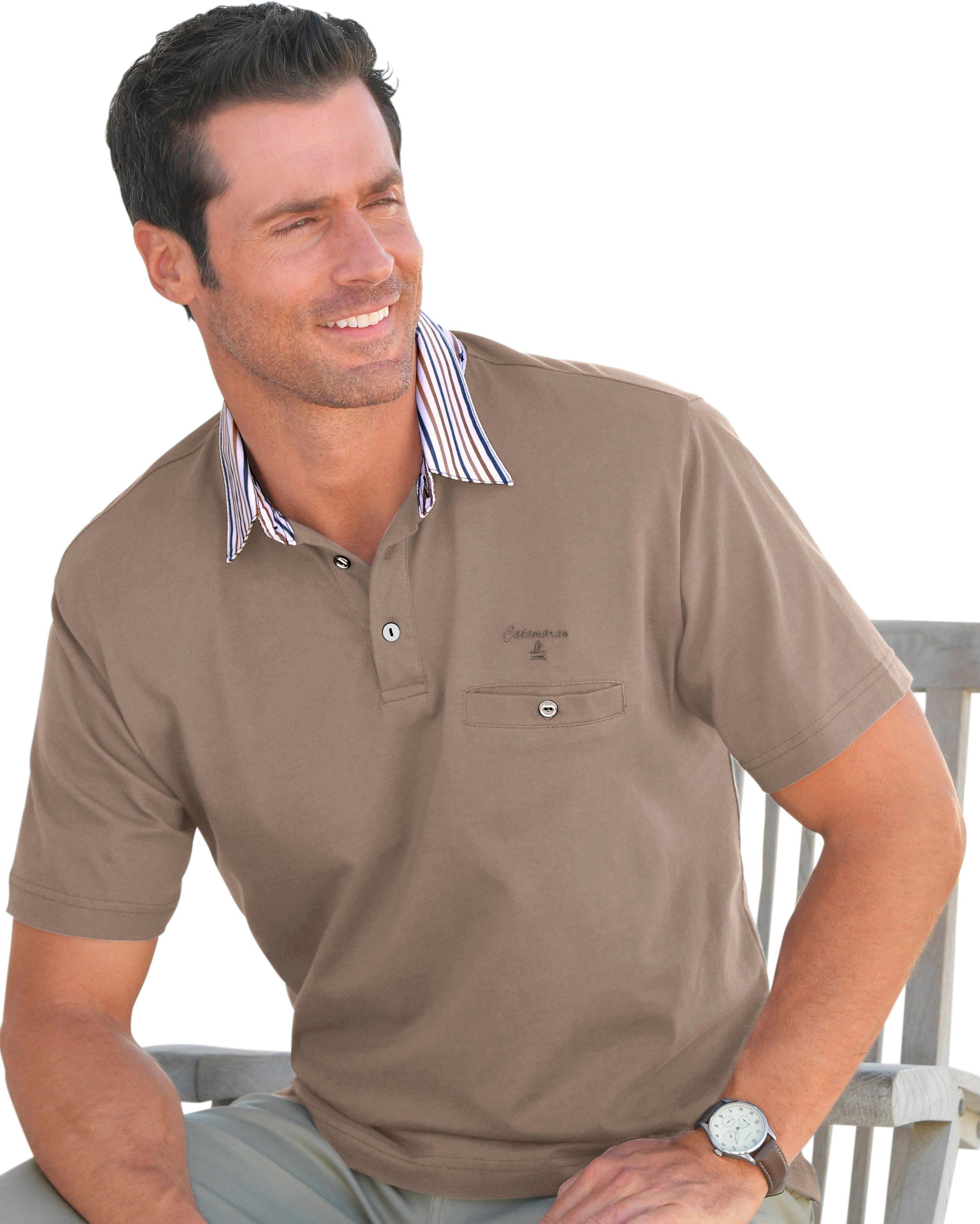 Catamaran Kurzarm-Shirt aus reiner Baumwolle