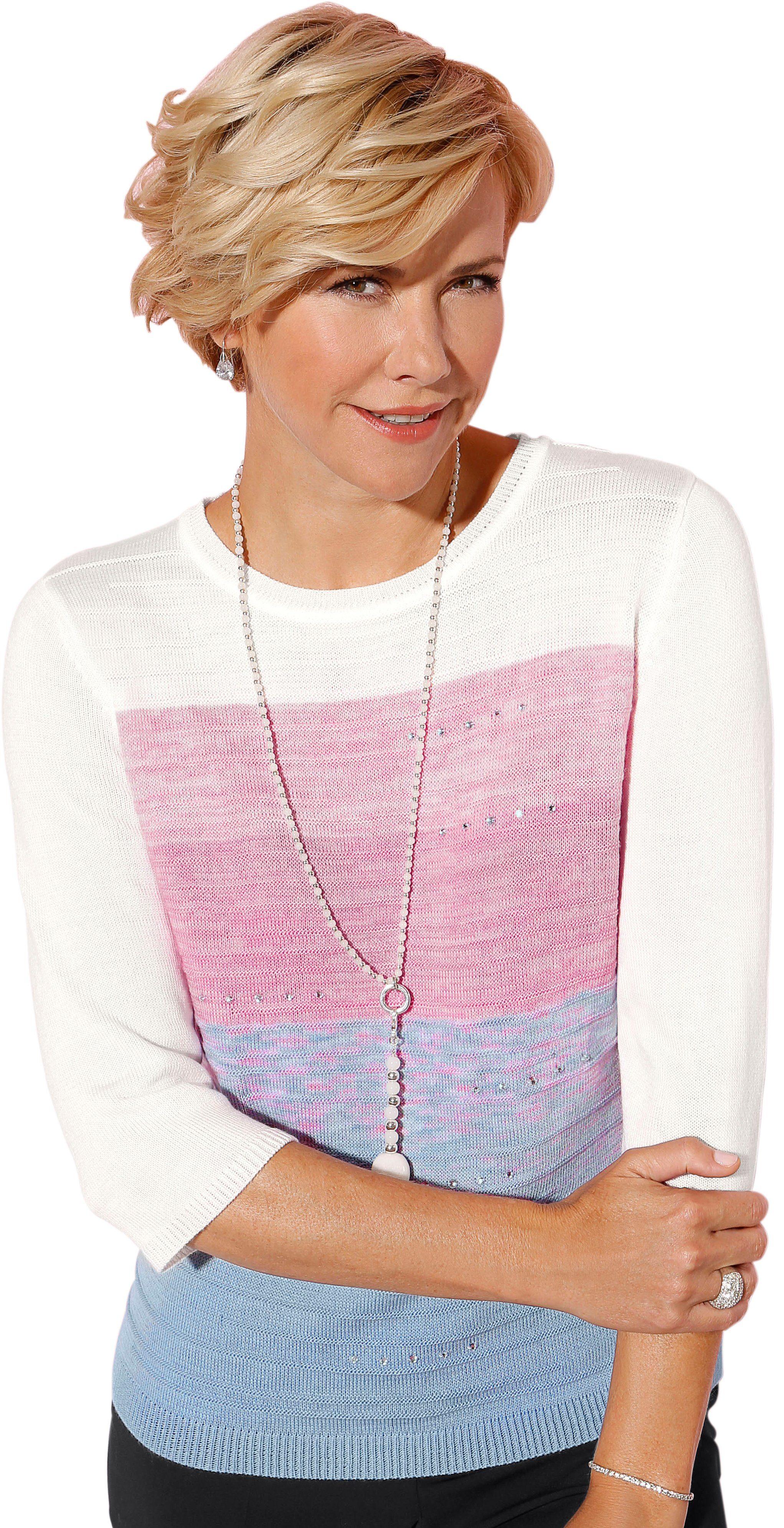 Classic Pullover mit dekorativen Glitzersteinchen