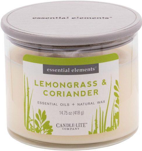 Candle-lite™ Duftkerze »Essential Elements - Lemongrass & Coriander« (1-tlg)
