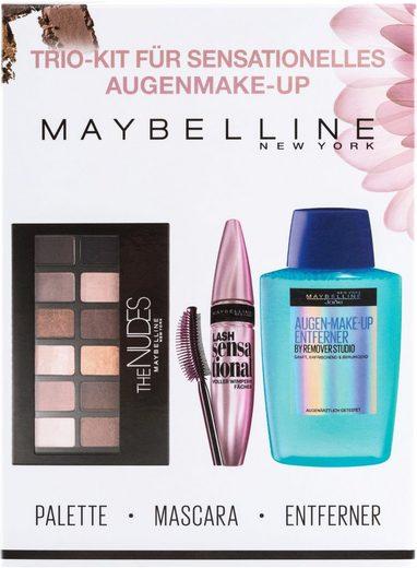 MAYBELLINE NEW YORK Make-up Set »Lash Sensational Kit«, 3-tlg., mit gratis Augen-Make-Up-Entferner