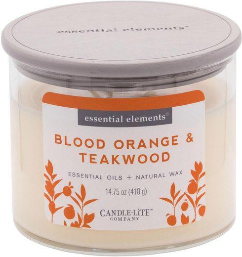 Candle-lite™ Duftkerze »Essential Elements - Blood Orange & Teakwood« (1-tlg)