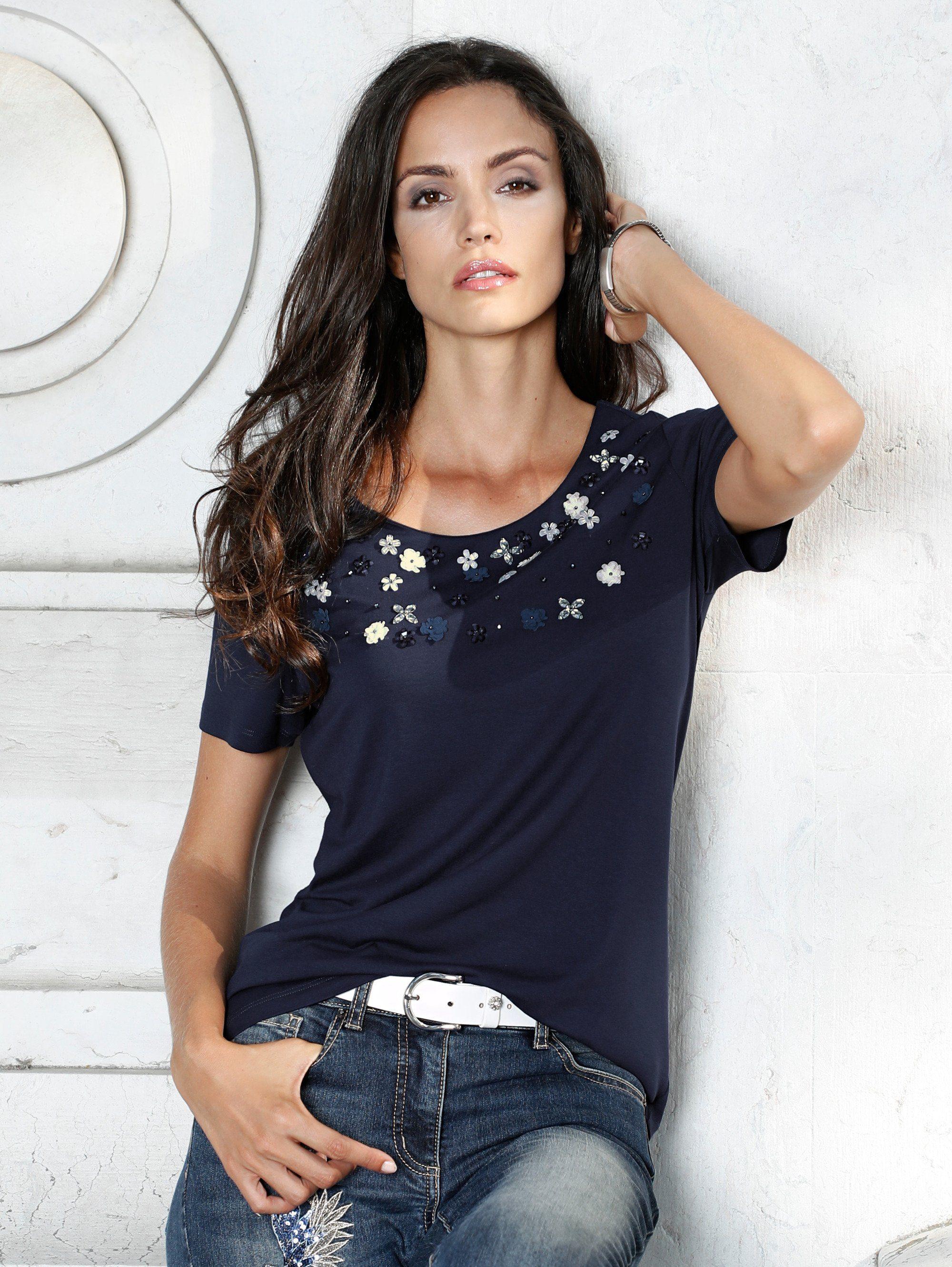 Amy Vermont Shirt Mit Blüten- Und Perlendekoration