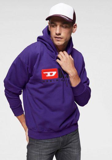 Diesel Kapuzensweatshirt »Division Felpa« mit silberfarbenen Details am Kordelzug