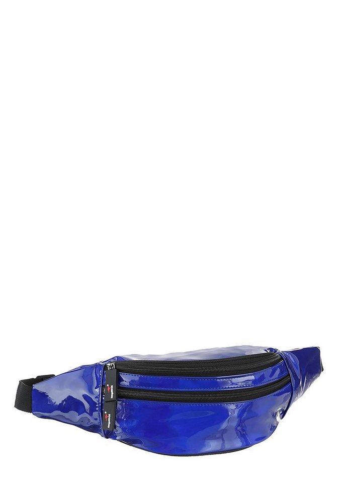 kangaroos -  Gürteltasche, mit Reißverschluss-Rückfach