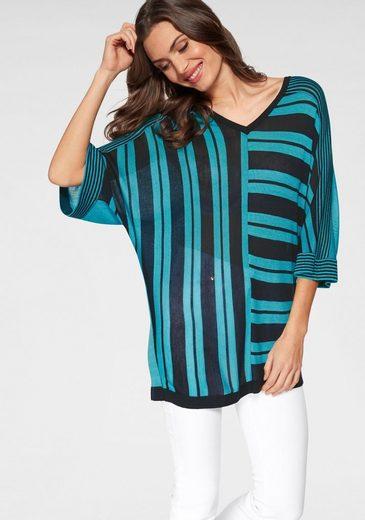 GUIDO MARIA KRETSCHMER V-Ausschnitt-Pullover im Streifen-Design