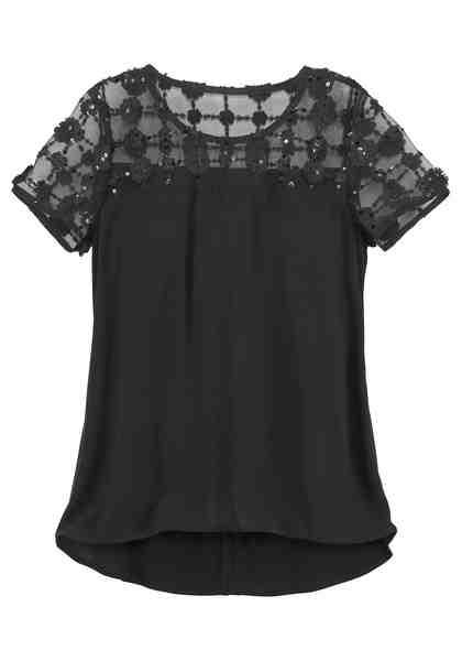 GUIDO MARIA KRETSCHMER Shirtbluse mit glitzernden Pailletten