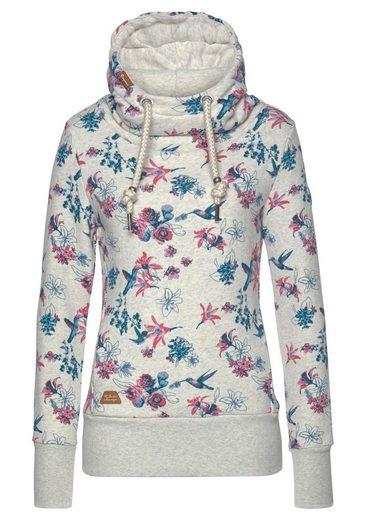 Ragwear Sweatshirt »YODA FLOWERS E« mit Allover-Flower-Kolibri-Print
