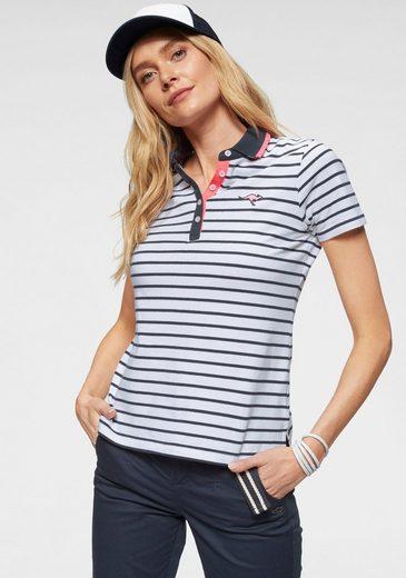 KangaROOS Poloshirt im modischem Streifen-Look mit kontrastfarbenen Details