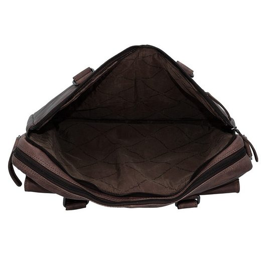 Leder The Aktentasche 40 Cm George Laptopfach Chesterfield Brand rqx6Ir
