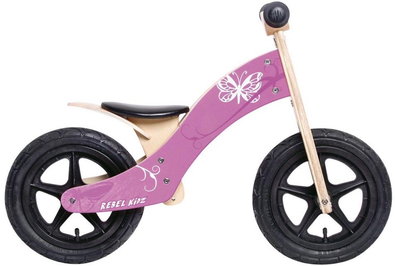 "Rebel Kidz Kinderfahrzeug »Wood Air Lernlaufrad 12"" Schmetterling«"