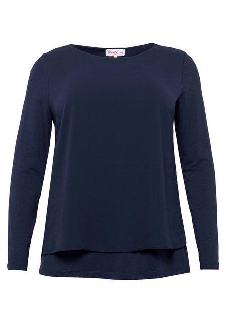 Sheego 2-in-1-Shirt im Material-Mix | Bekleidung > Shirts > 2-in-1 Shirts | Sheego